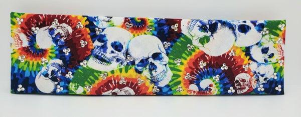 Tie Dye Skulls with Diamond Clear Swarovski Crystals (Sku6000)