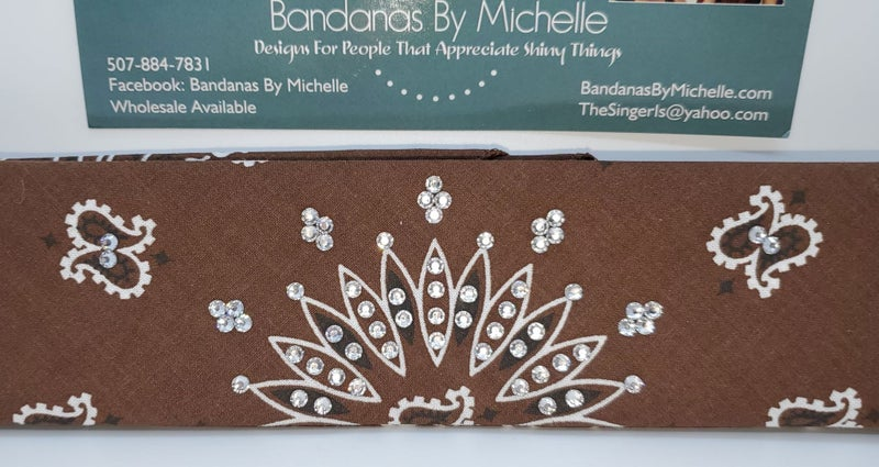 Narrow Bargain Brown with Diamond Clear Crystals (Sku8057)