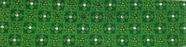 Celtic Pattern Swarovski Crystal Green Bandana (Sku1114)