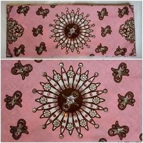 Wide Pink and Brown Western with Light Pink and Diamond Clear Swarovski Crystals (Sku1440)