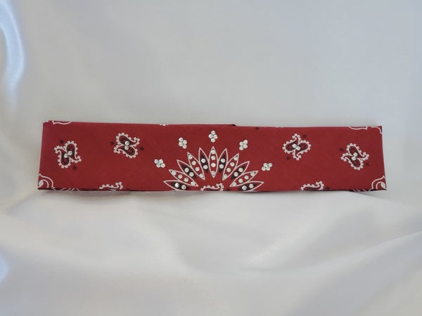 Maroon Paisley with Diamond Clear Crystals (Sku8042)