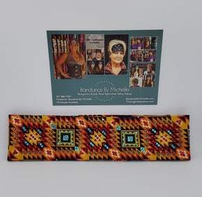 LeeAnnette Southwestern with Red, Turquoise and Black Swarovski Crystals (Sku4938)