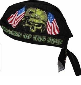 The Land of The Free Because of the Brave Skull Cap