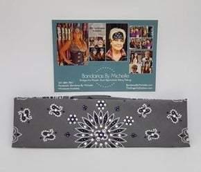 Charcoal Paisley with Purple and Diamond Clear Swarovski Crystals (Sku2470)