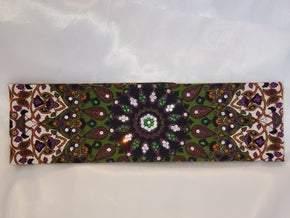 Green Indian with Dark Green and Diamond Clear Swarovski Crystals (Sku1298)