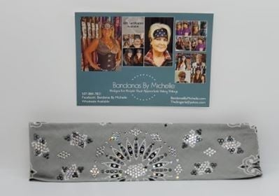 LeeAnnette Silver Paisley with Black and Diamond Clear Swarovski Crystals (Sku4251)