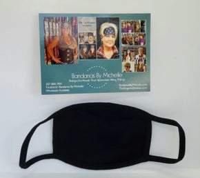 5 PACK Plain Black Face Masks BULK Discount *Final Sale* (Sku5951)