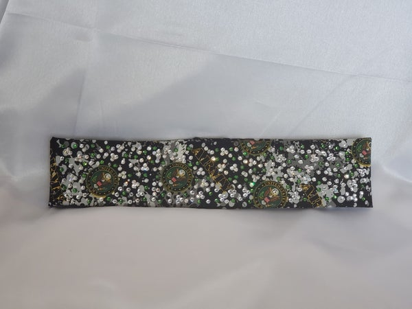 LeeAnnette Narrow Army with Green and Diamond Clear Swarovski Crystals (Sku4120)