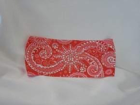 Stretchy Pinkish Coral Headband With Aurora Borealis Austrian Crystals (Sku5085)