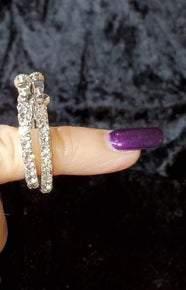 Austrian Crystal Clip Hoop Earrings (Sku8003)