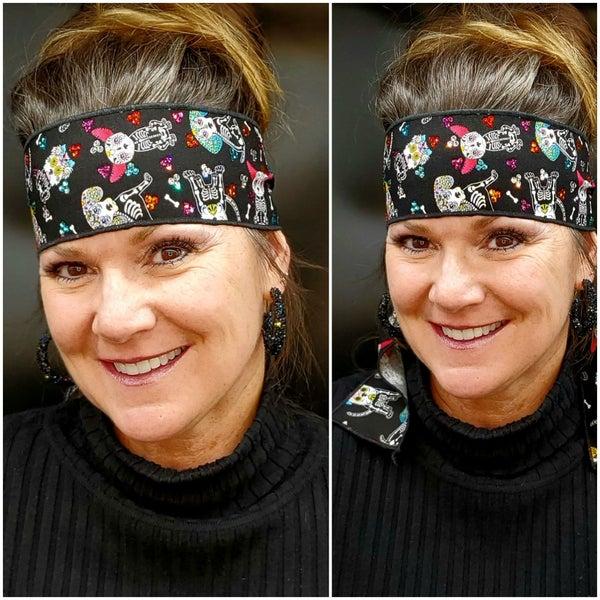 Skeleton Dogs Headband Strip with Multi-Colors of Swarovski Crystals (Sku5517)