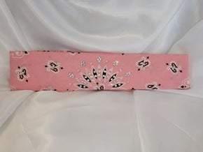 Bargain Bandana Narrow Light Pink with Diamond Clear Crystals (Sku8030)