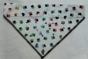 Small Doggy Dana White with Colored paws with Crystals