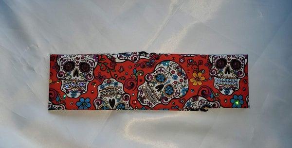 Red Sugar Skull with Swarovski Crystals (Sku1057)