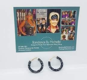 Black and Chrome Crystal Earrings (Sku8018)