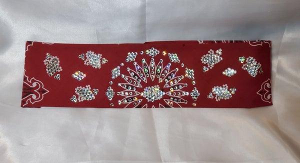 LeeAnnette Maroon Paisley with Diamond Clear Swarovski Crystals (Sku4216)