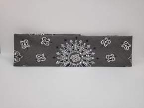 Dark Grey Paisley with Diamond Clear Swarovksi Crystals (sku2466)