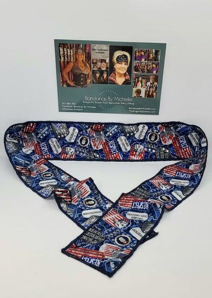Air Force Headband Strip with Swarovski Crystals (Sku5536)