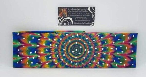 Funky Tie Dye with Aurora Borealis Austrian Crystals (Sku6016)