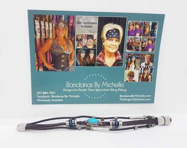 Unisex Leather Bracelet (sku8008)