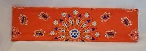 LeeAnnette Orange Bandana With Blue, Fire Opal Orange and Clear Swarovski Crystals (Sku4036)