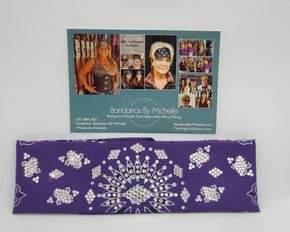 LeeAnnette Purple Paisley with Aurora Borealis and Diamond Clear Swarovski Crystals (Sku4520)