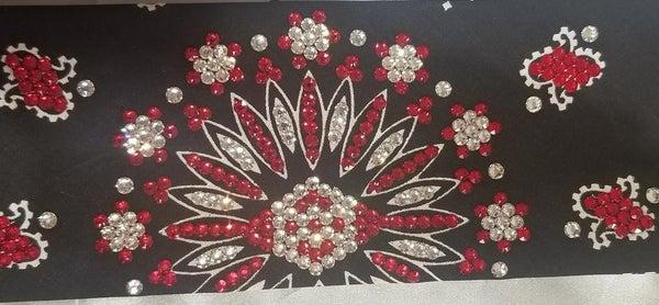 LeeAnnette Red and Clear Swarovski Crystals (Sku4078)