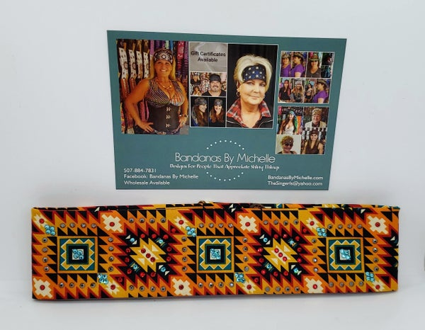Southwestern with Red, Turquoise and Black Swarovski Crystals (Sku1854)