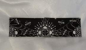 Spider Web Skull Bandana with Black Swarovski Crystals (Sku1655)