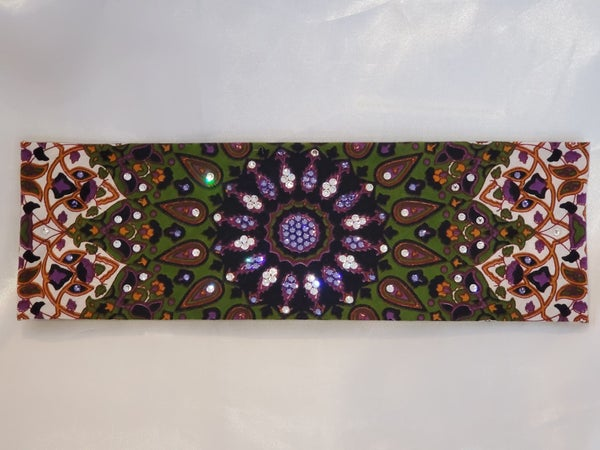 Green Indian with Light Purple and Diamond Clear Swarovski Crystals (Sku1300)