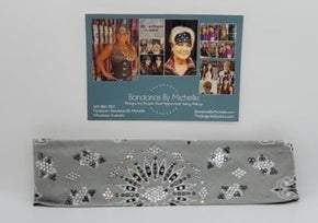 LeeAnnette Silver Paisley with Black and Diamond Clear Swarovski Crystals (Sku4352)