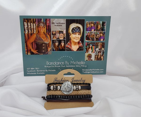 4 Separate  Bracelets Playing cards