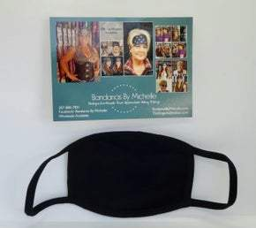 10 PACK Plain Black Face Masks BULK Discount *Final Sale* (Sku5950)