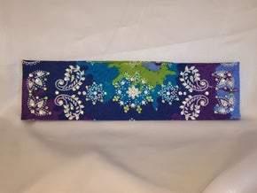 Purple Blue Tie Dye with Light Green and Diamond Clear Swarovski Crystals (Sku9957)