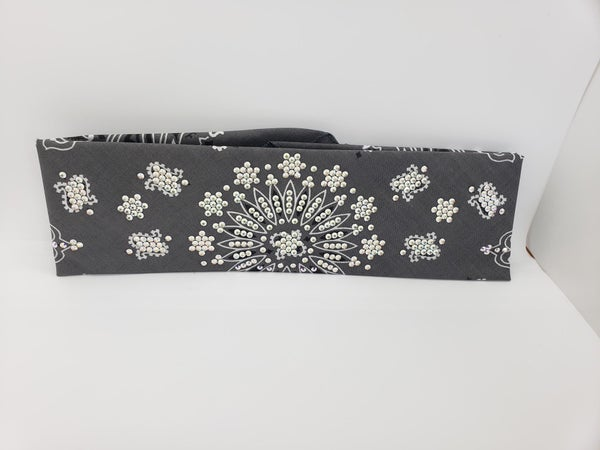 LeeAnnette Charcoal Paisley with Aurora Borealis Swarovski Crystals (Sku4905)