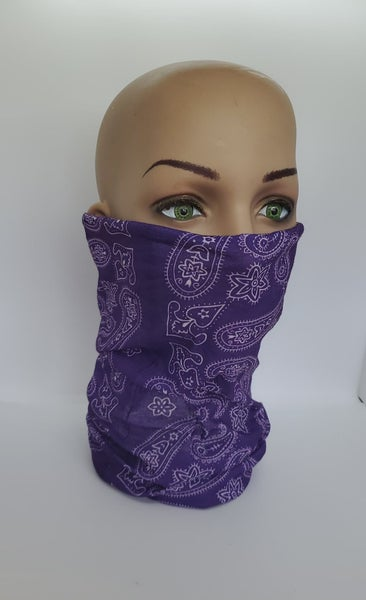 Tube Scarf Purple Paisley (Sku8511)