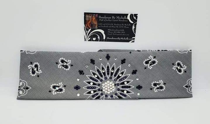 Silver Paisley with Purple and Diamond Clear Swarovski Crystals (Sku2502)