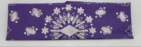 LeeAnnette Purple Paisley with Diamond Clear Swarovski Crystals (Sku4521)