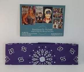 Purple Paisley with Purple and Diamond Clear Swarovski Crystals (Sku2482)