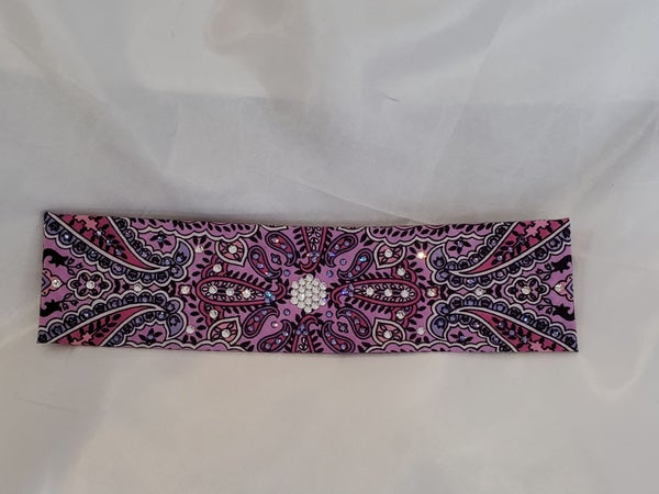 Narrow Lavender Indian with Clear and Purple Crystals (Sku1400)