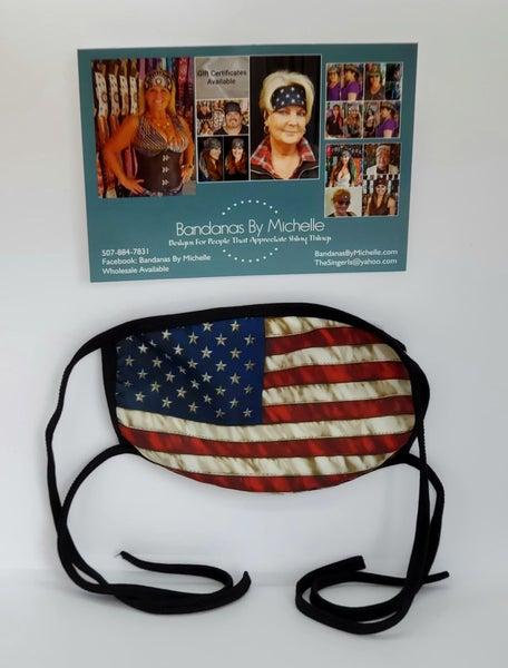 American Flag Face Mask *Final Sale* (Sku5910)