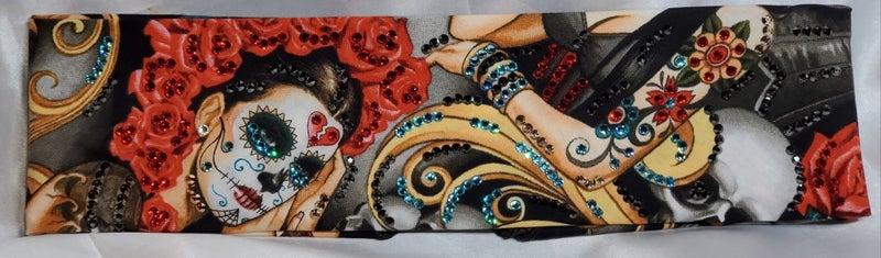 LeeAnnette Las Elegantes with Red, Black, Turquoise and Rose Gold Swarovski Crystals (Sku4100)