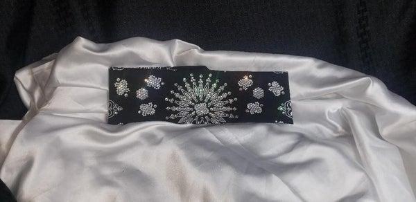 LeeAnnette Black Paisley with Diamond Clear Swarovski Crystals (Sku4084)