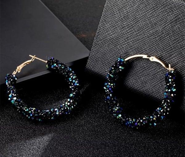 Blue Crystal Earrings (sku8017)