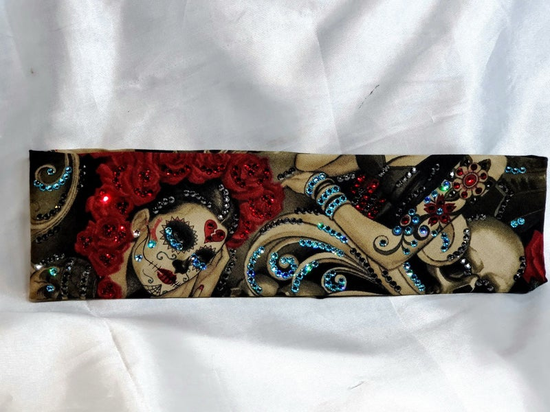 LeeAnnette Nocturna Broken Heart with Red, Black, Turquoise and Rose Gold Swarovski Crystals (Sku4102)