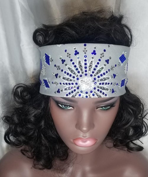 Grey LeeAnnette with Blue Crystals (Sku4006)