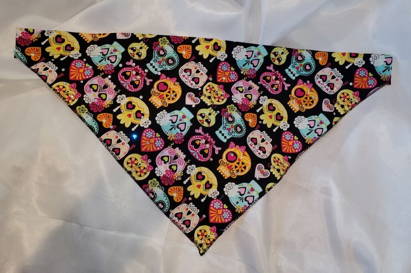 Large Doggy Dana Day of the Dead skulls with Crystals
