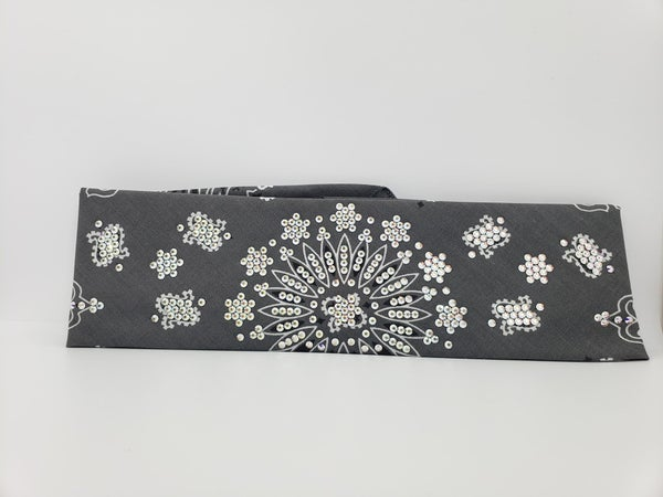 LeeAnnette Charcoal Paisley with Diamond Clear Swarovski Crystals (Sku4904)