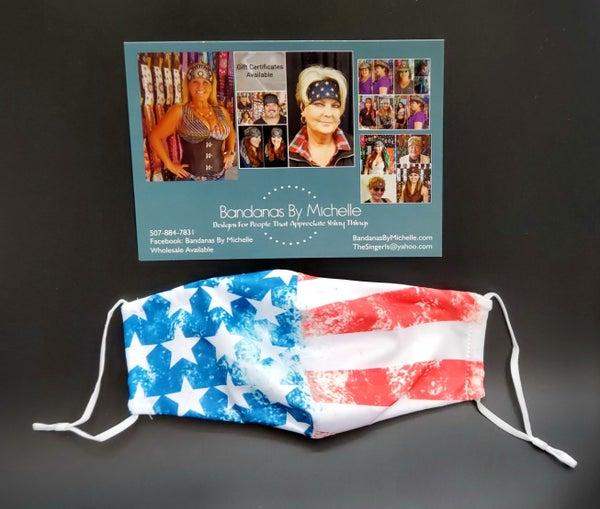 Stars and Stripes Face Mask (sku5934) *Final Sale*