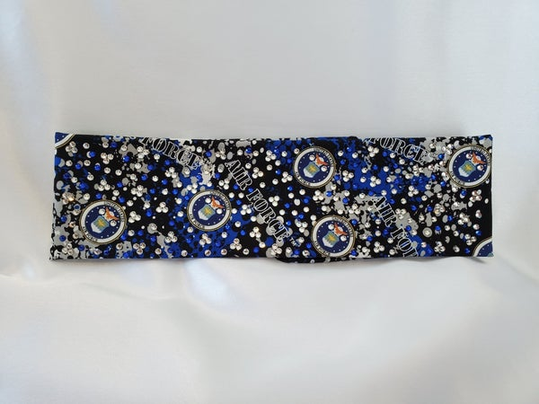 LeeAnnette Air Force with Blue and Diamond Clear Swarovski Crystals (Sku4099)